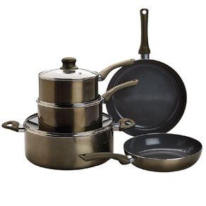 Living & Co Titanium Cookware Set Bronze 5 Pack
