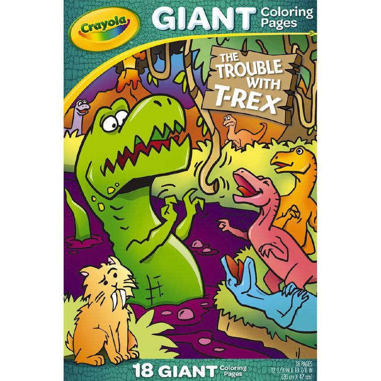 Crayola Giant Colouring Pages T-Rex, , hi-res