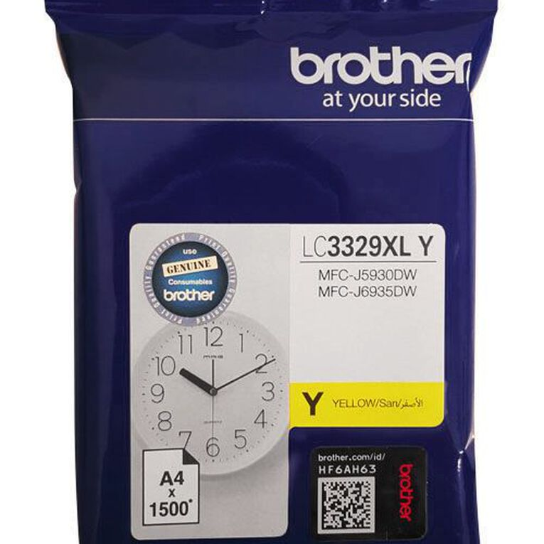 Brother Ink LC3329XLY Yellow (1500 Pages), , hi-res
