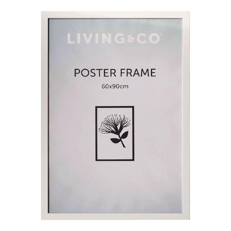 Living & Co Value Poster Frame White 60cm x 90cm, White, hi-res