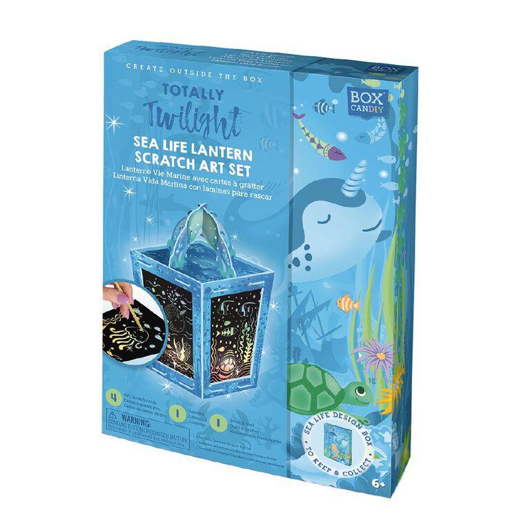 Totally Twilight Sea Life Lantern Scratch Art Set, , hi-res