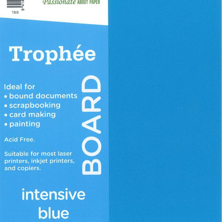 Trophee Board 210gsm 12 Pack Intensive Blue A4, , hi-res