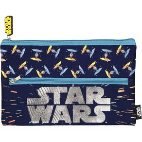 Star Wars Kids Neoprene Flat Pencil Case Navy