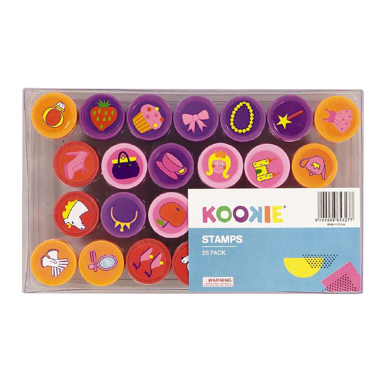 Kookie Stamp Set Multi-Coloured 26 Pack, , hi-res