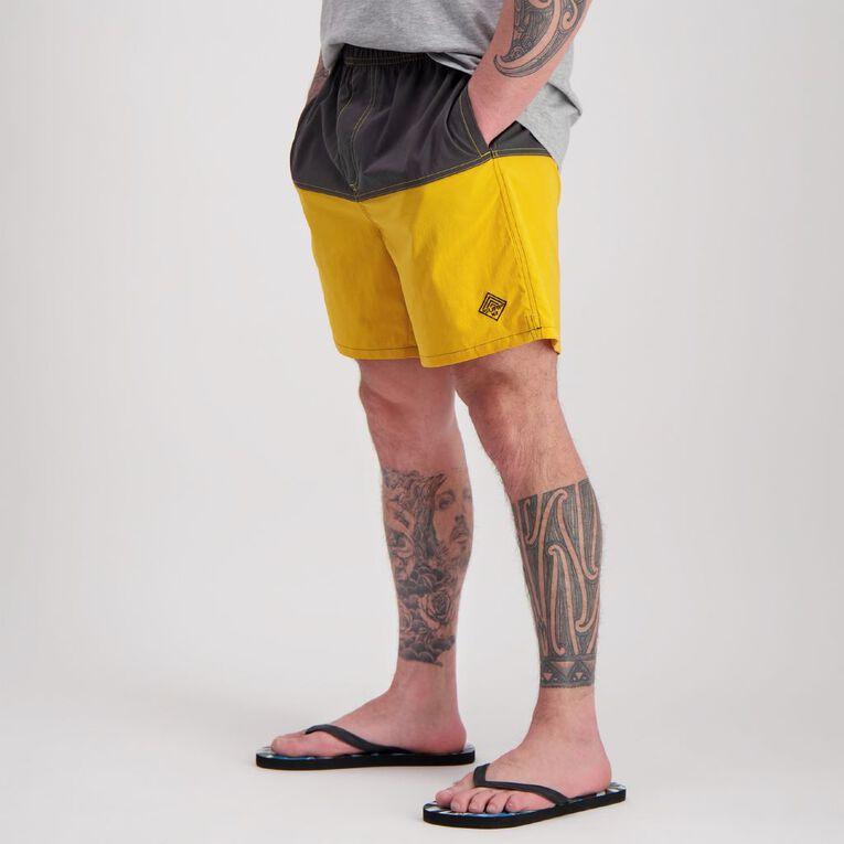 H&H Swim Men's Spliced Panel Boardshorts, Grey, hi-res image number null