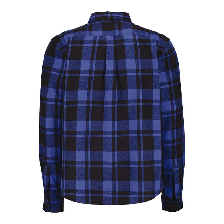 Rivet Men's Industrial Flannelette Shirt, Blue, hi-res image number null