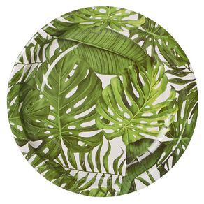 Party Inc Tropical Paper Side Plates 18cm 8 Pack
