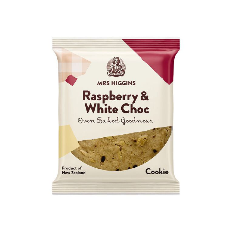 Mrs Higgins Raspberry White Choc Cookie 40g, , hi-res image number null