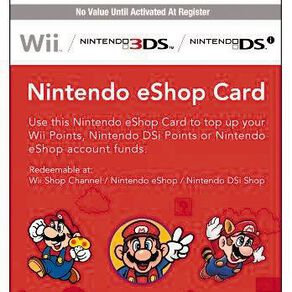 Nintendo $15 Network Card