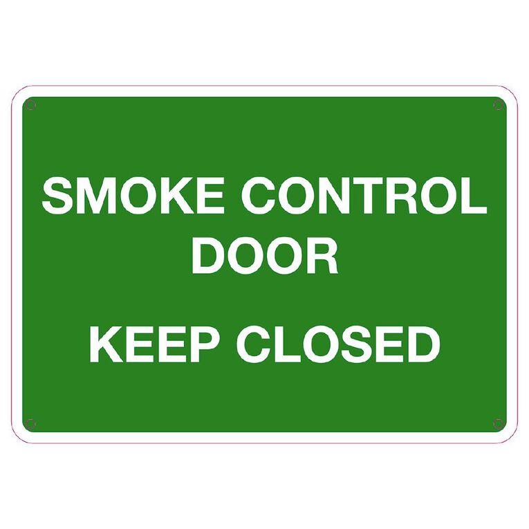 WS Smoke Control Door Keep Closed Small 240mm x 340mm, , hi-res