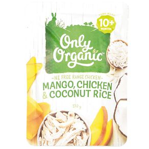 Only Organic Mango Chicken and Coconut Rice Pouch 170g