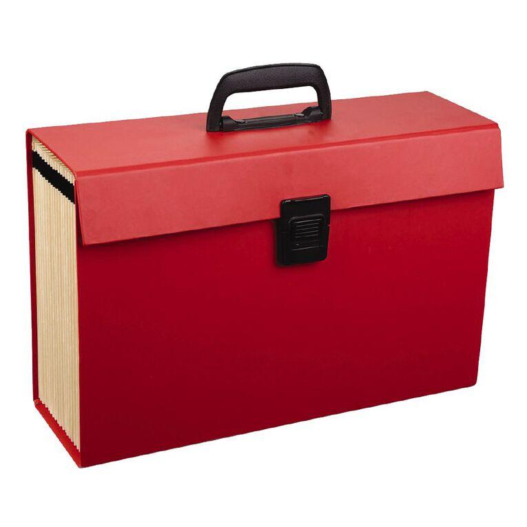 WS Concertina File 19 Pocket Red, , hi-res