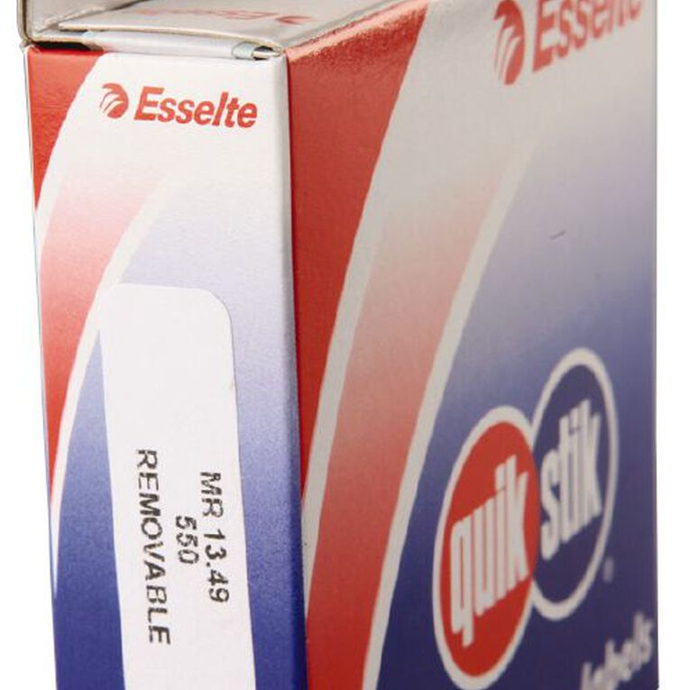 Quik Stik Labels Mr1349 13mm x 49mm 550 Pack White, , hi-res