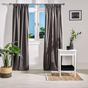 Living & Co Metro Curtains Steel 150-230cm Wide/205cm Drop