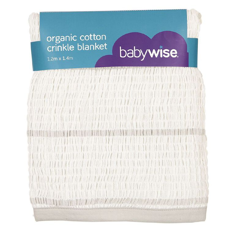 Babywise Organic Cotton Crinkle Blanket, , hi-res