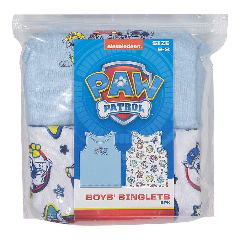 Paw Patrol Boys' Singlet 2 Pack, Blue Light, hi-res