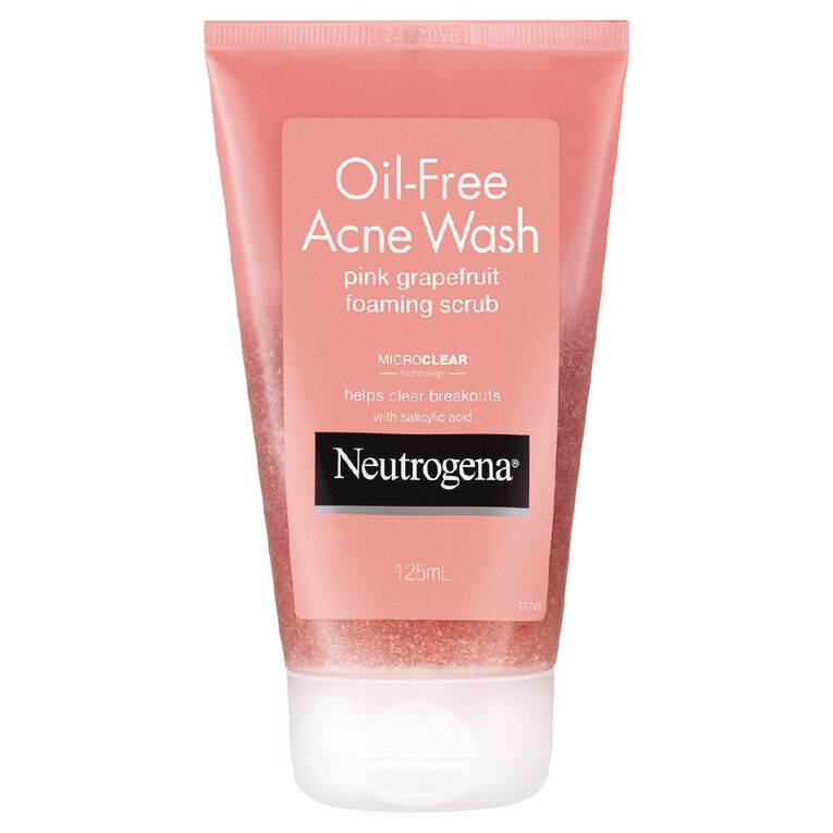 Neutrogena Oil Free Acne Pink Grapefruit Scrub 125ml, , hi-res