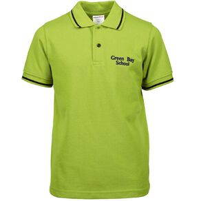 Schooltex Green Bay Primary Short Sleeve Polo with Embroidery
