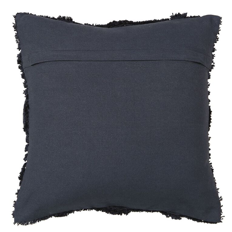 Living & Co Edith Tufted Cushion Eclipse Blue 45cm x 45cm, Blue, hi-res