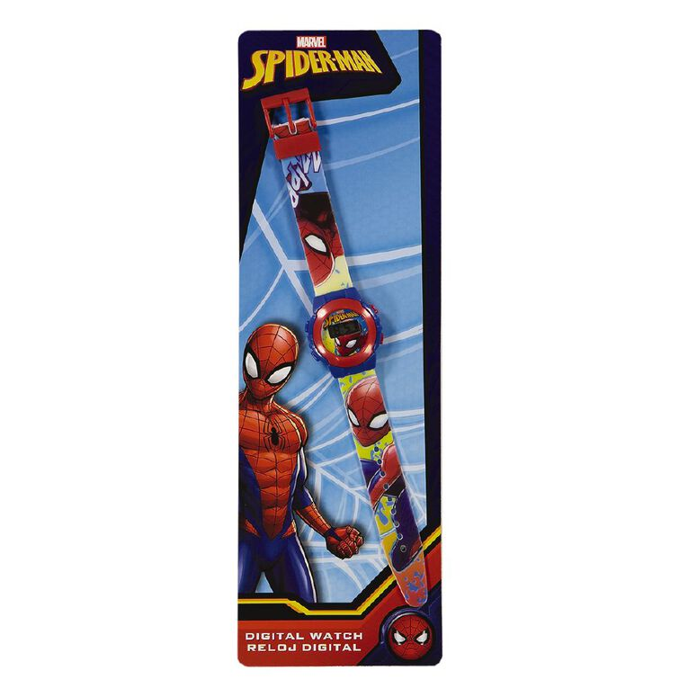 Marvel Spiderman Digital Watch, , hi-res