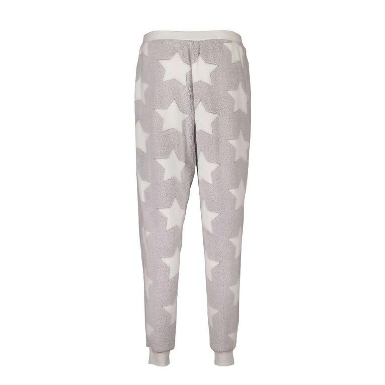 Love to Lounge Women's Star Pyjama Pants, Grey, hi-res