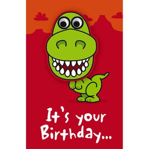 John Sands Kids' Card Number Dinosaur with Wobbly Eyes