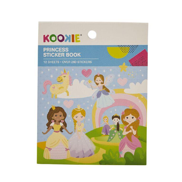 Kookie Mini Sticker Book 12 Sheets Princess, , hi-res