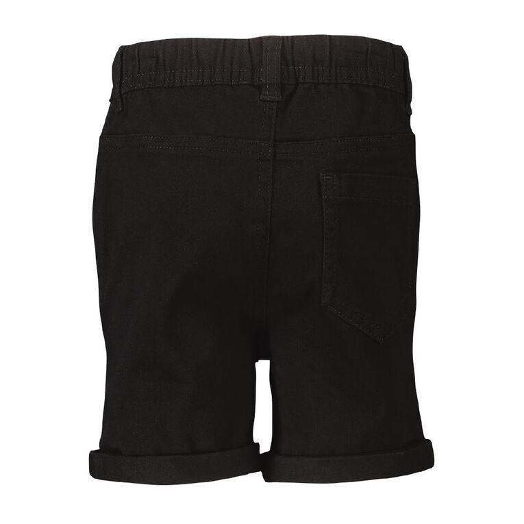 Young Original Toddler Plain Chino Shorts, Black, hi-res