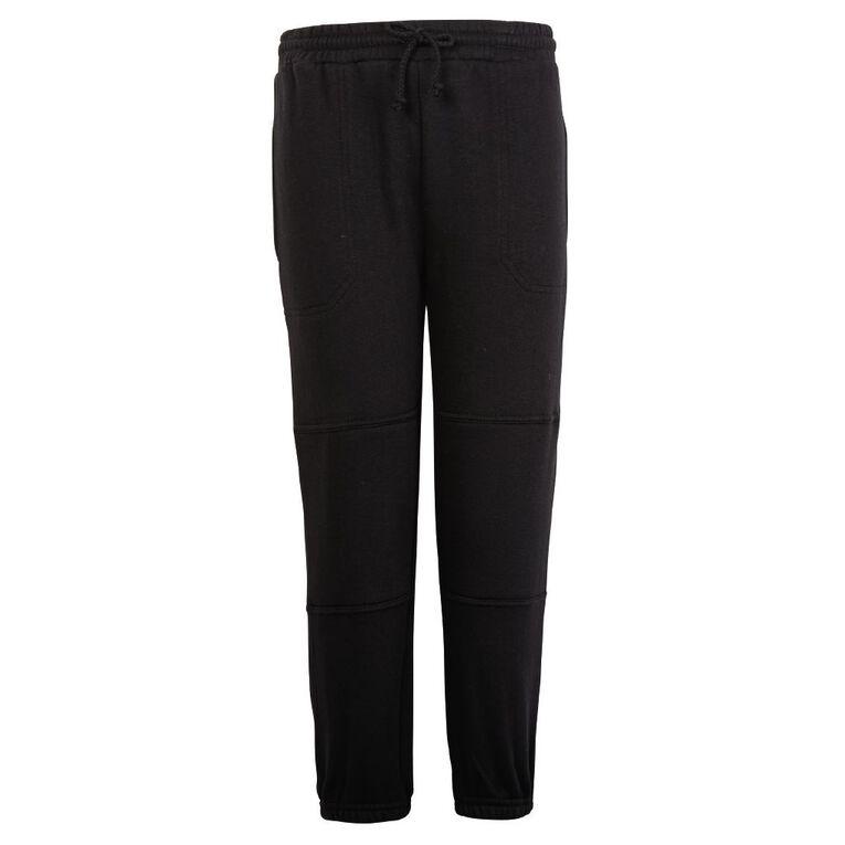 Schooltex Double Knee Trackpants, Black, hi-res