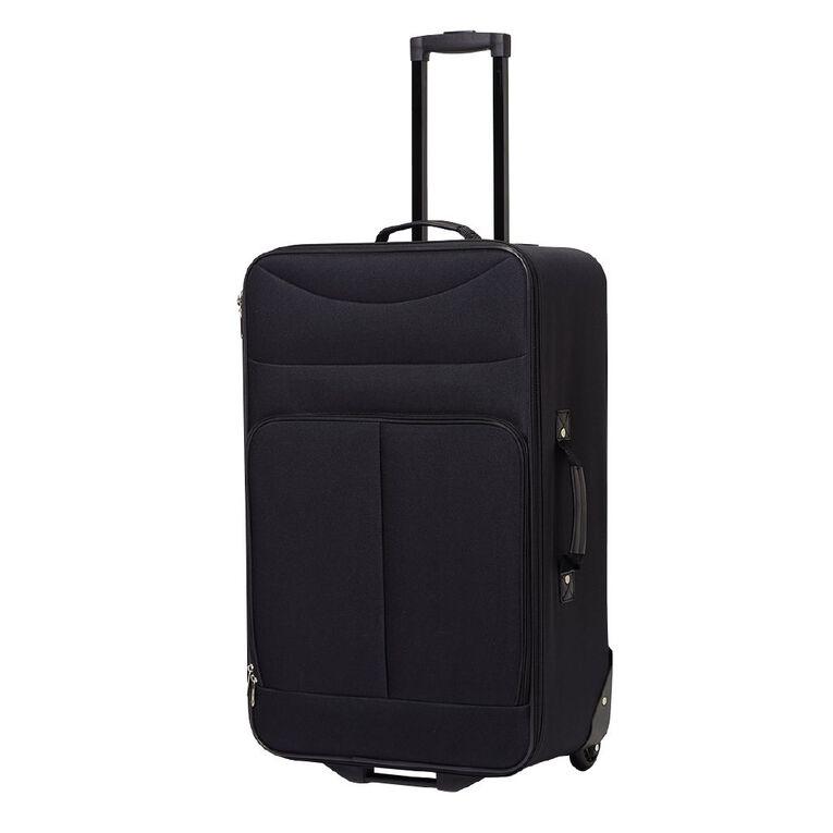 Living & Co 2 Wheel Soft Suitcase, Black, hi-res image number null