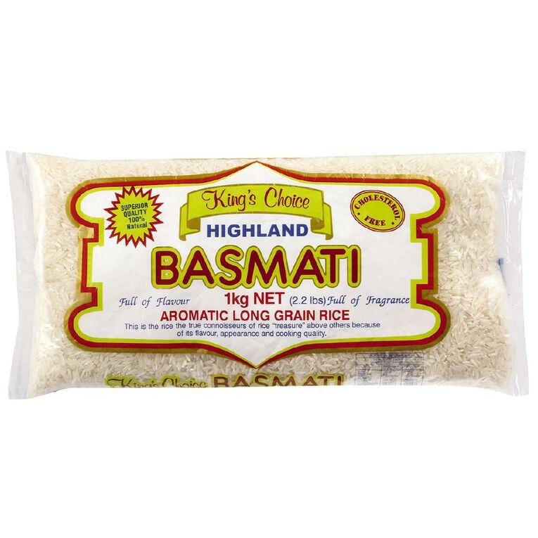 Kings Choice Basmati Rice 1kg, , hi-res