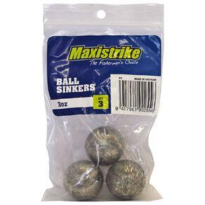 Maxistrike Fishing Sinkers Ball 3 oz 3 Pack
