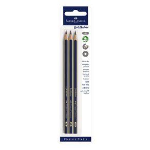 Faber-Castell Goldfaber 4B Pencils 3 Pack