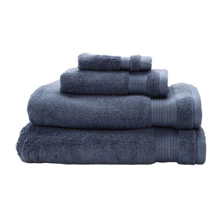 Living & Co Hotel Collection Face Towel Blue Light 30cm x 30cm, Blue Light, hi-res