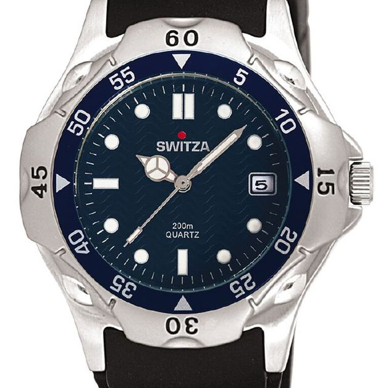 Switza Men's Sports Watch with Blue Dial, , hi-res
