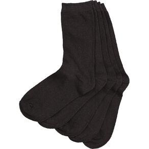H&H Essential Plain Crew Socks 5 Pack