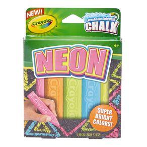 Crayola Sidewalk Chalk Neon 5 Pack