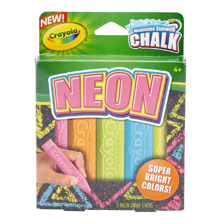 Crayola Sidewalk Chalk Neon 5 Pack, , hi-res