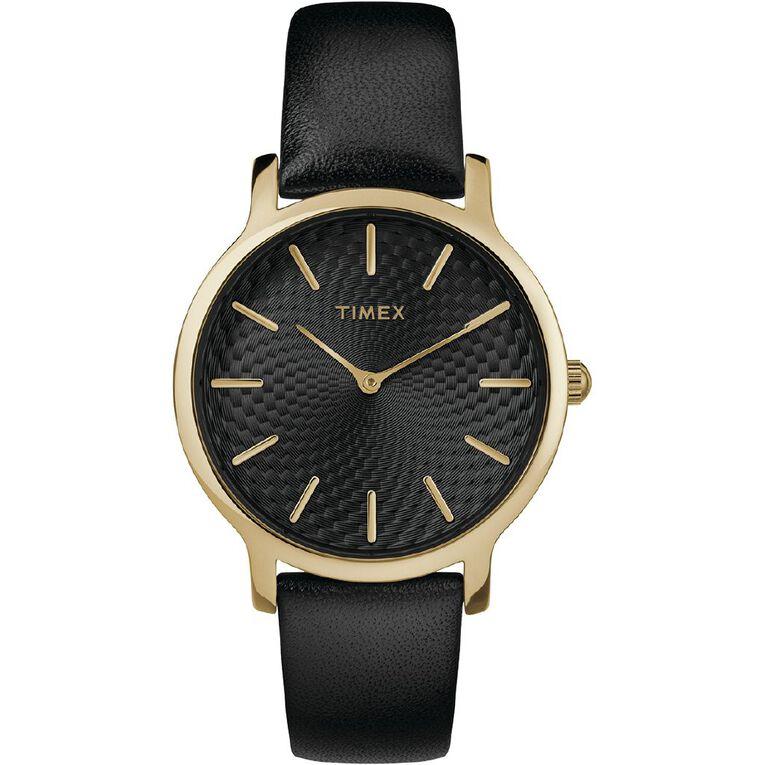 Timex Metropolitan Leather 34mm Watch, , hi-res