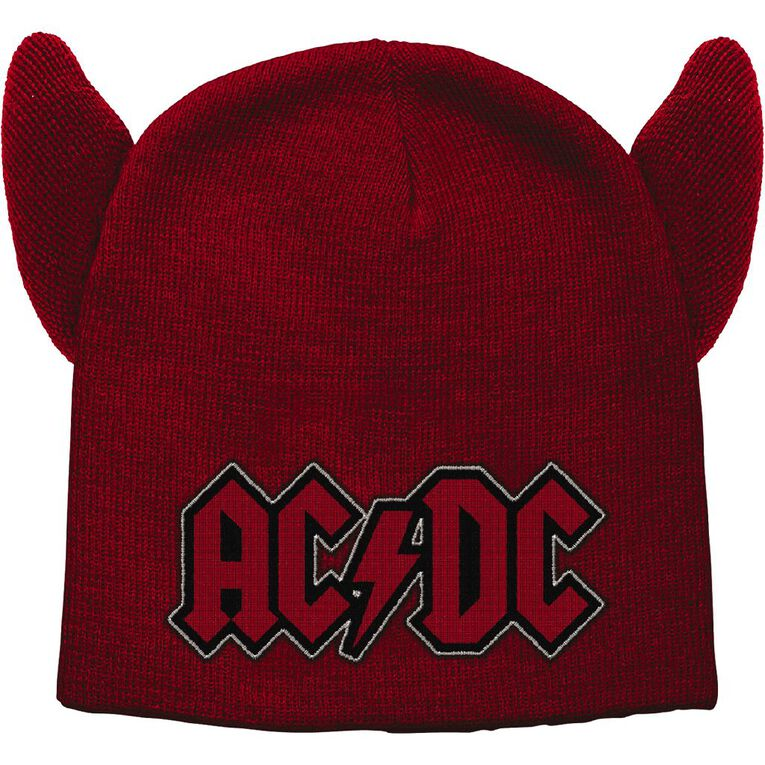 ACDC Beanie, Red, hi-res