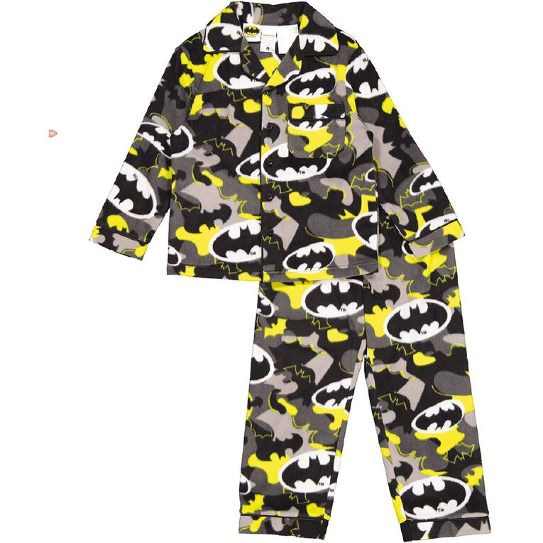 Batman Boys' Fleece Pyjama, Grey Mid, hi-res
