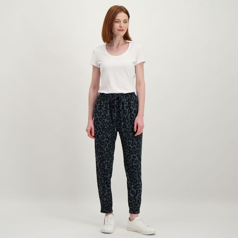 H&H Women's Stretch Harem Pants, Grey Dark, hi-res