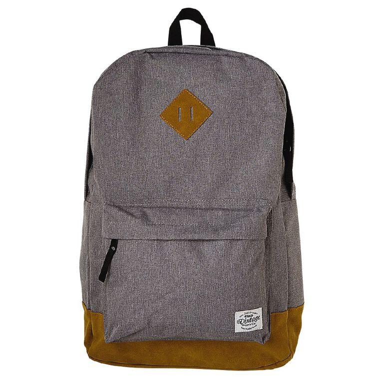 H&H Vintage Backpack, Grey, hi-res image number null