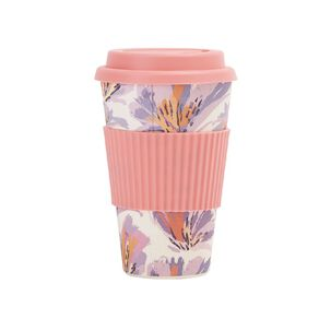Living & Co Bamboo Travel Cup Butterfly Floral 500ml
