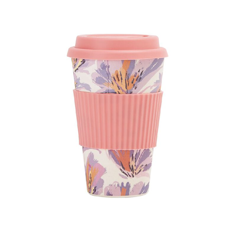 Living & Co Bamboo Travel Cup Butterfly Floral 500ml, , hi-res image number null