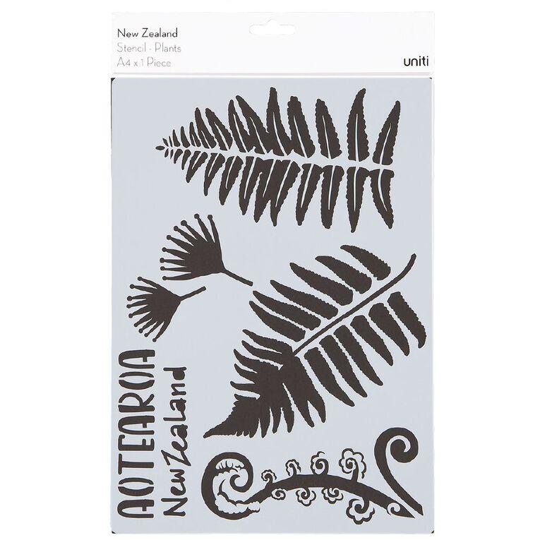 Uniti New Zealand Stencil A4 Plants, , hi-res