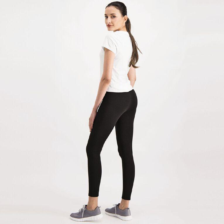 H&H Women's Brushed Leggings, Black, hi-res