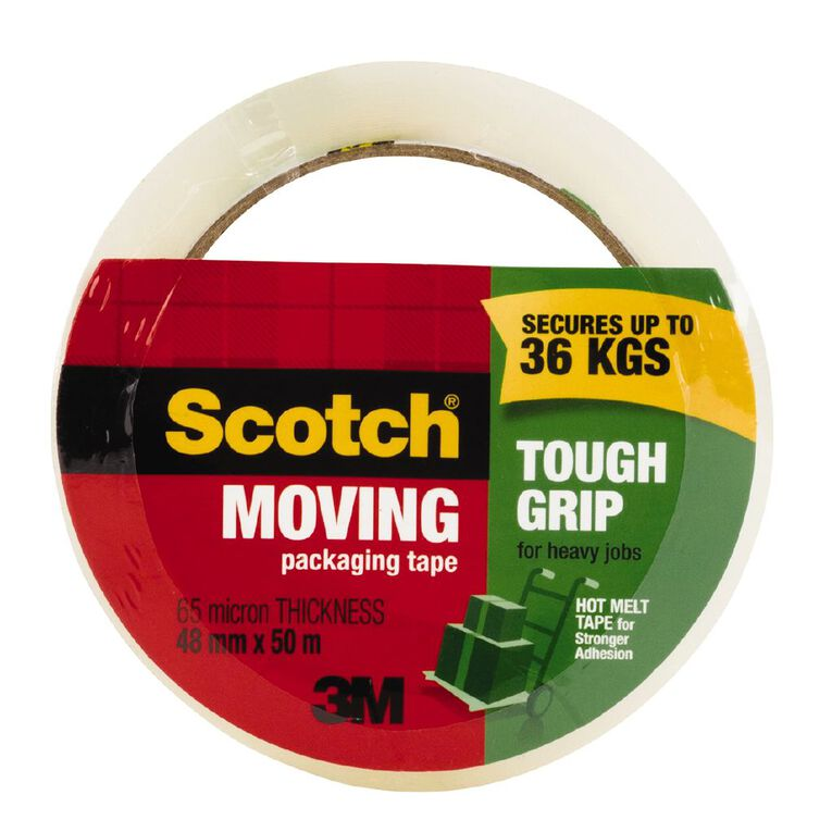 Scotch Moving Packaging Tape 48mm x 50m 1 Roll, , hi-res