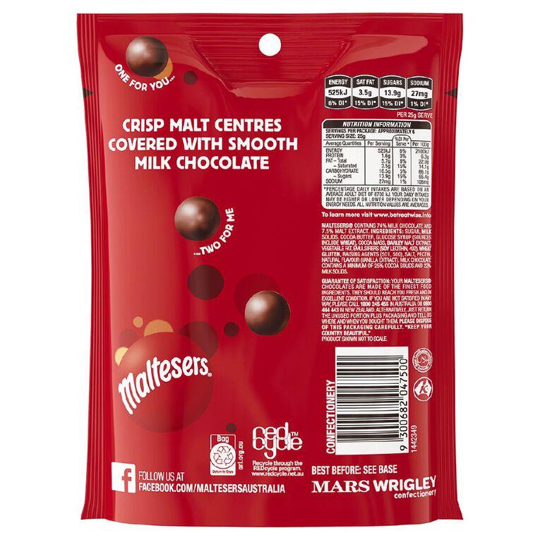 Maltesers Milk Chocolate Bag 140g, , hi-res