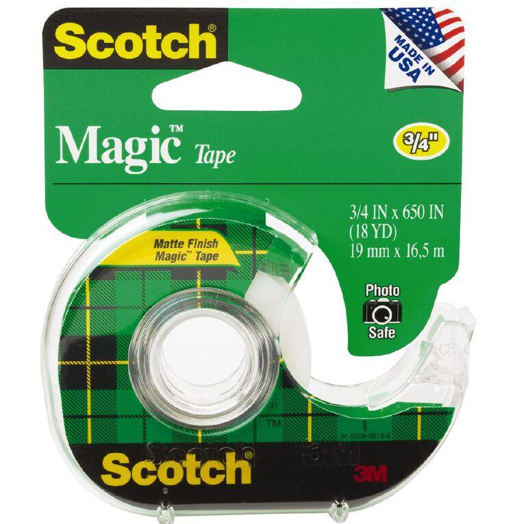 Scotch Magic Tape 122 In Dispenser 19mm x 16.5m Clear, , hi-res